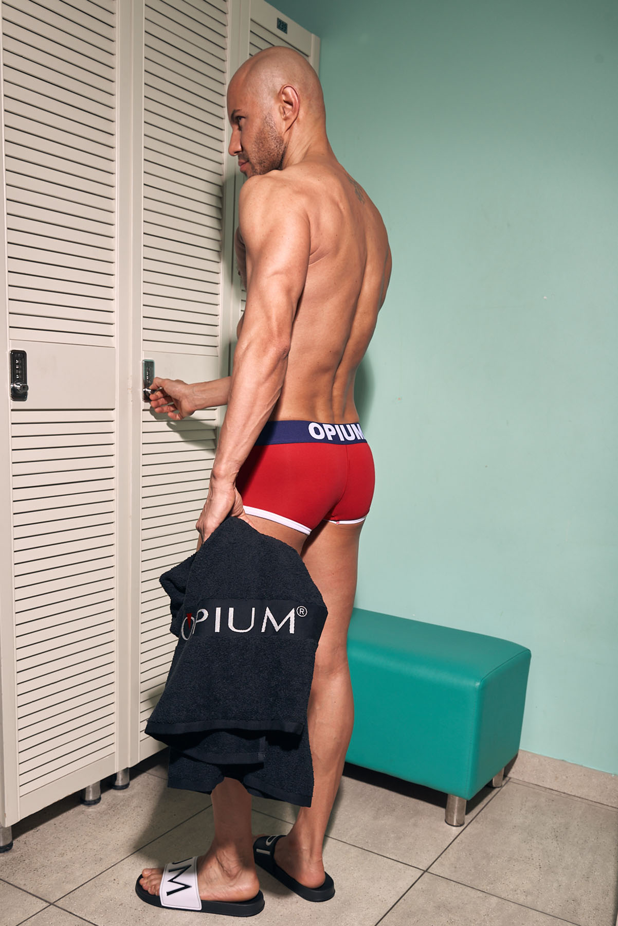 Photoshoot for men's underwear Opium